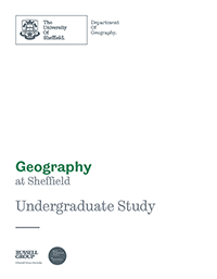 Front Page of our Geography Brochure