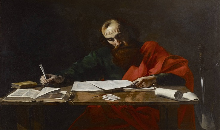 Image of St Paul writing his epistles