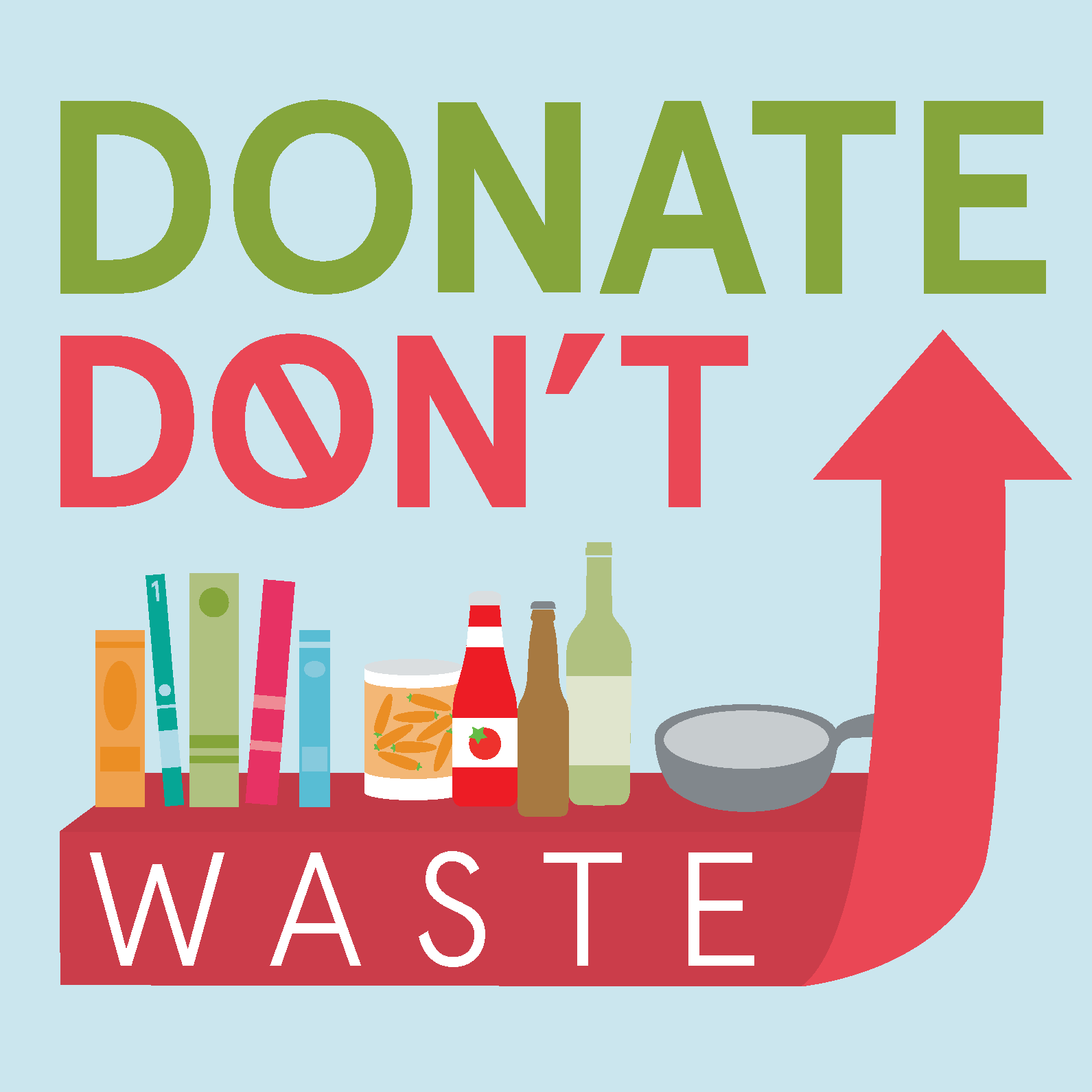 Donate, Don't Waste Logo