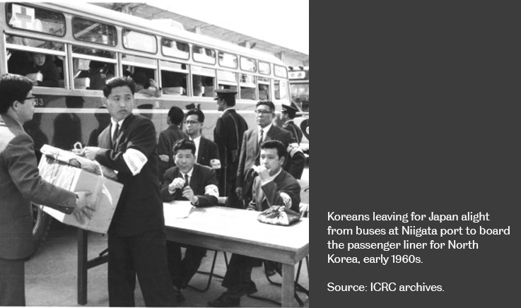 Koreans leaving for Japan - early 1960's