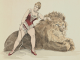 Lady and the Lion from Les Roux Cirque et la vie Foraine, published in 1889. UoS