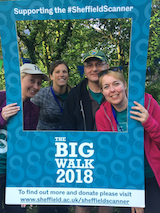 An image of the Carbon Footprints Team on the Big Walk