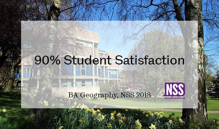 90% student satisfaction for BA Geography