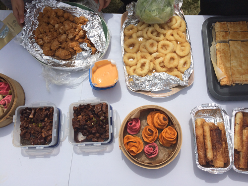 Food at the EMD Group's annual picnic
