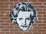 Street art of Margaret Thatcher