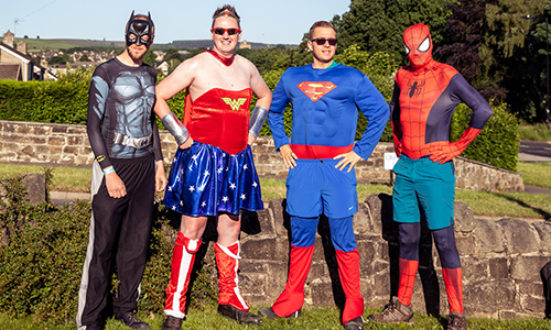 James Hill and his team of super-heroes taking on the Big Walk 2018