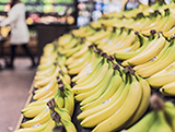 Photo of bananas in a supermarket