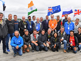 The captains of the Golden Globe Race sailing in support of SITraN