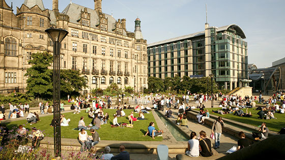 Photo of Peace Gardens in Sheffield City Centre