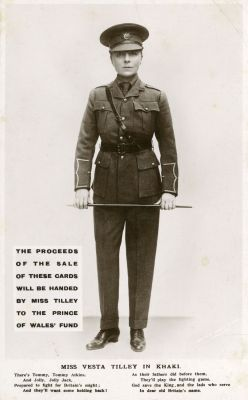 Vesta Tilley as a Soldier