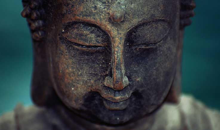 Close-up photo of Buddha