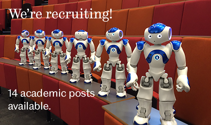 We're recruiting - 14 academic posts available