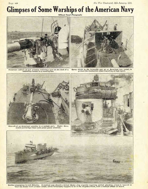 Some of the warships from the American Navy in WW1