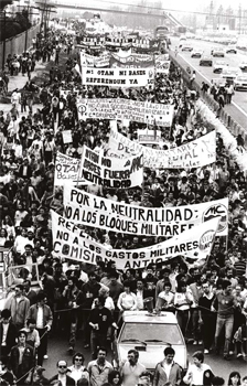 March to US base Torrejón, 21 March 1983