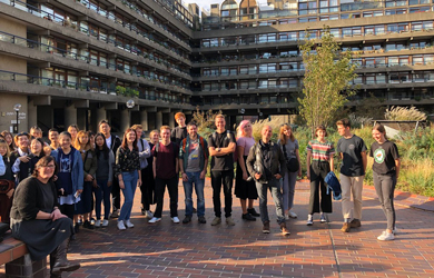 Nigel with 3rd years visiting the Barbican Gardens in November