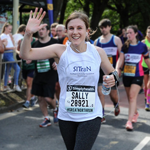 Sally Hall taking on the Great North Run