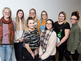 Some of the students on the Nursing Associate Apprenticeship programme