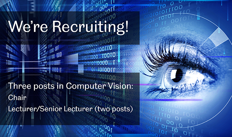 We're recruting - computer vision posts