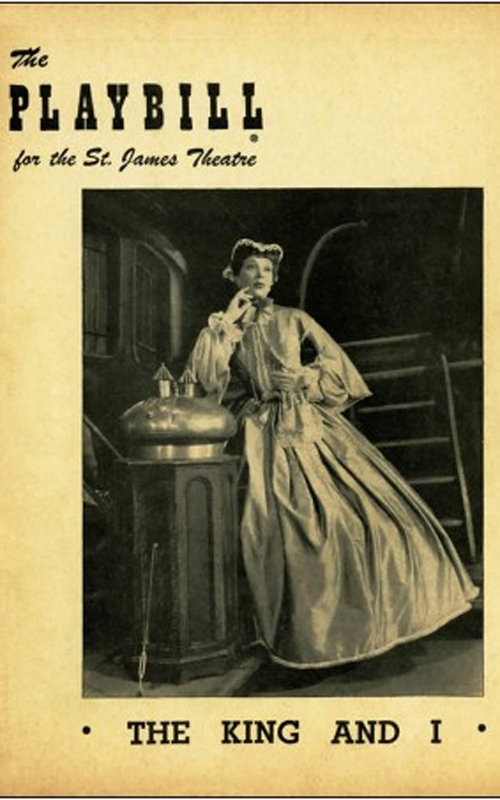 The original programme for The King and I