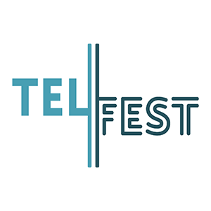 The TELFest logo in blue