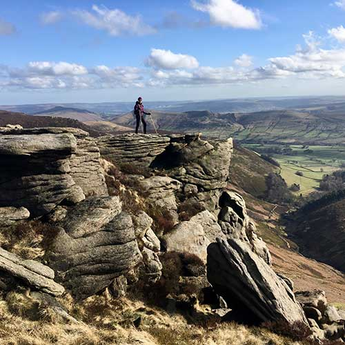 Dr Paula Gould in Peak District