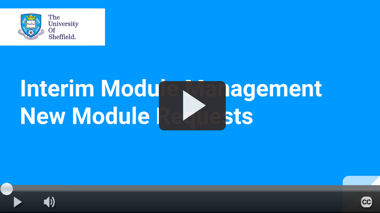 Play IMM New Module Request video