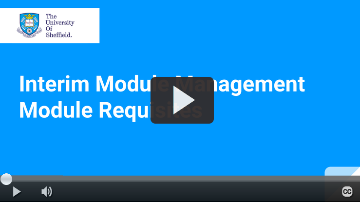 Play IMM Module Requisites video