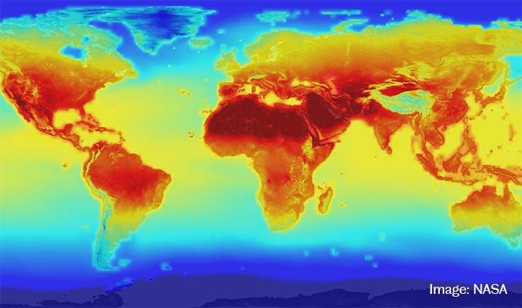 NASA - climate change map