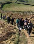 Photo of students walking in the Peak District
