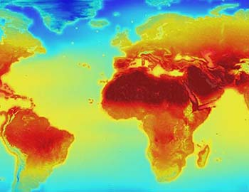 Map of global temperatures