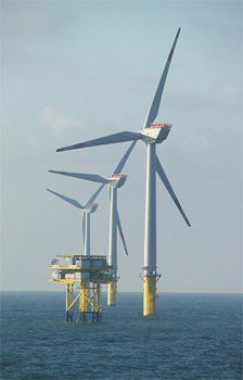 An offshore wind turbine