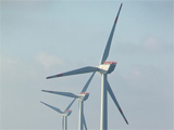 Picture of offshore wind turbines