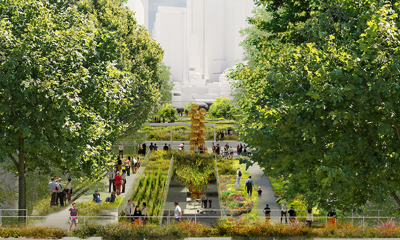 Design of the planting at Melbourne Arts Precinct