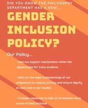 Gender Inclusion Policy poster