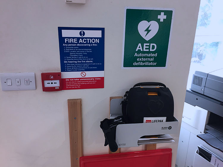 AED North Campus Closeup