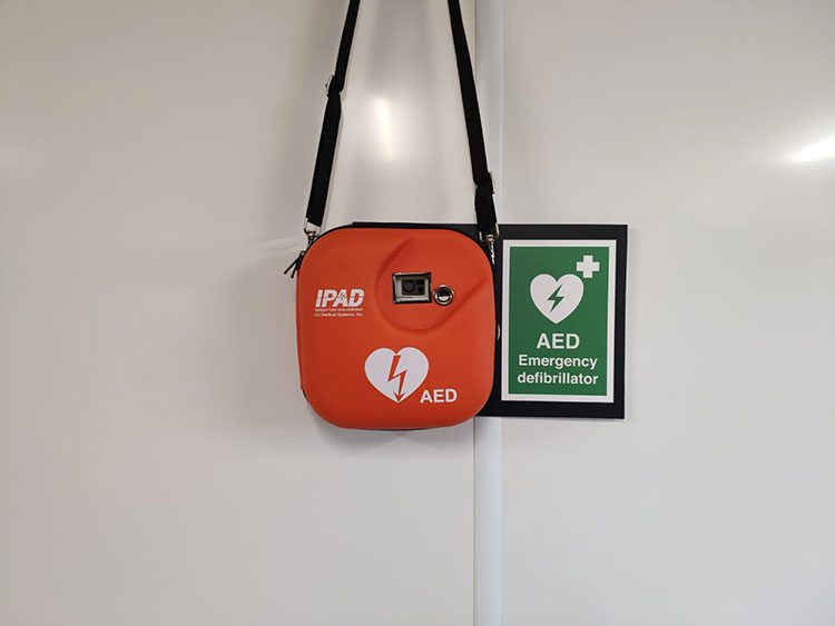 AED Sport Sheffield Norton Lower Pavilion Closeup