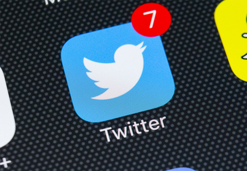 The Twitter icon on a smart phone