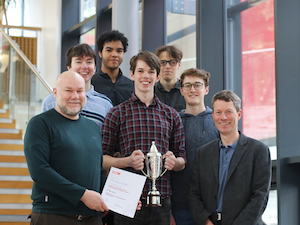 The University of Sheffield IMechE Design Challenge Team 2019 with David Polson and Prof Neil Sims