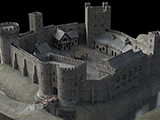 A screen shot from the virtual model of Sheffield Castle
