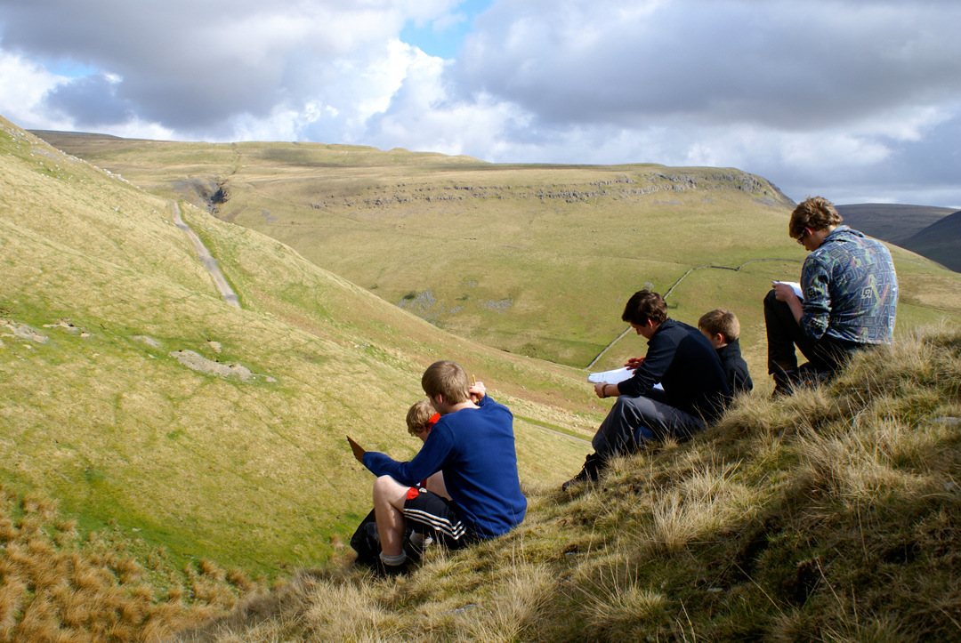 Students in the Peak District