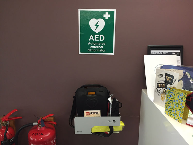 AED Halifax Hall Closeup
