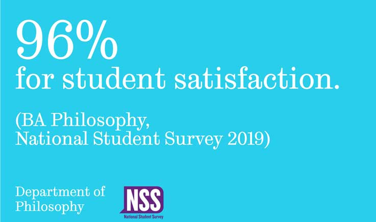 NSS 2019 96% for student satisfaction