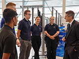 Education Secretary Gavin Williamson with AMRC apprentices