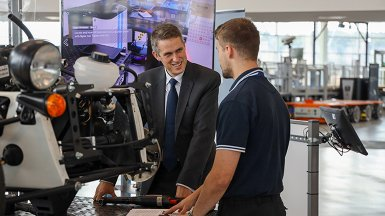 Gavin Williamson visits AMRC