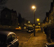 Street lighting in Sheffield
