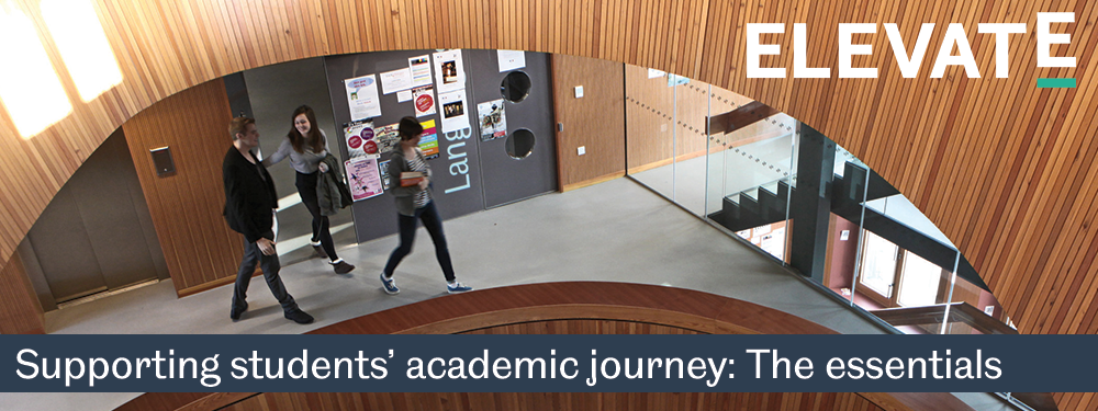 Banner image with name. Resource name: Supporting students' academic journey: The essentials