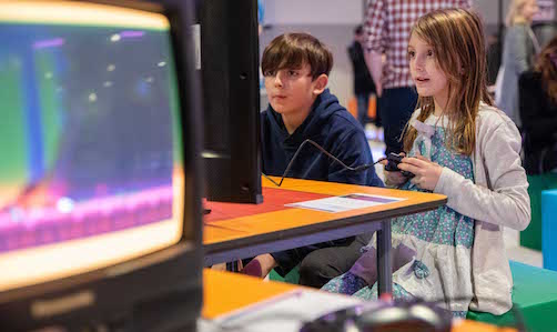 Photograph of children gaming