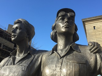 Blue sky image of Women of Steel