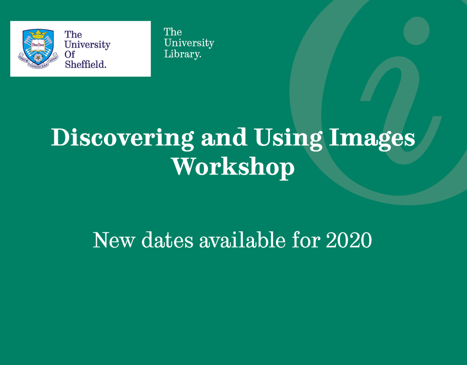 Image of advert for Discovering and Using Images Workshop