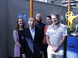 Members of the Japanese Citizens' Nuclear Information Center (CNIC) visit the Materials Department